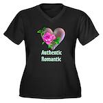 Authentic Romantic Women's Plus Size V-Neck Dark T