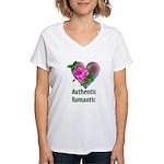 Authentic Romantic Women's V-Neck T-Shirt