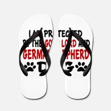 Protected By German Shepherd Flip Flops