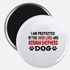 Protected By German Shepherd Magnet