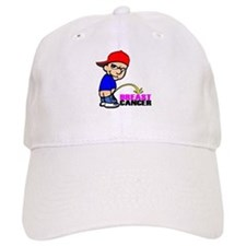 Piss On Breast Cancer Baseball Cap