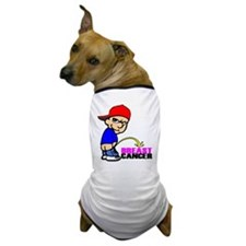 Piss On Breast Cancer Dog T-Shirt