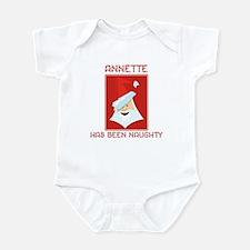 ANNETTE has been naughty Infant Bodysuit