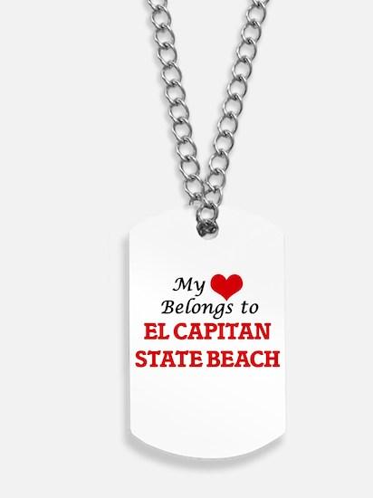 My Heart Belongs to El Capitan State Beac Dog Tags