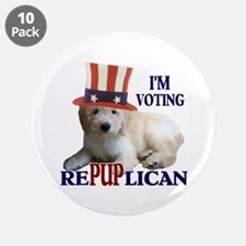 """RePUPlican Goldendoodle 3.5"""" Button (10 pack)"""