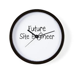 Future Site Engineer Wall Clock