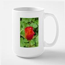 Large flower, rose Mug