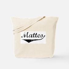Matteo Vintage (Black) Tote Bag