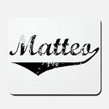 Matteo Vintage (Black) Mousepad