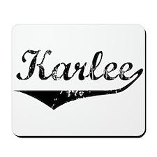 Karlee Vintage (Black) Mousepad