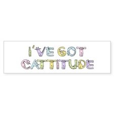 Cattitude Funny Cat Saying Bumper Bumper Sticker