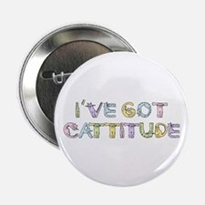 "Cattitude Funny Cat Saying 2.25"" Button"