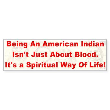 Native American-BS Bumper Sticker
