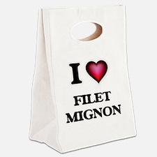 I love Filet Mignon Canvas Lunch Tote