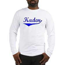 Kaden Vintage (Blue) Long Sleeve T-Shirt