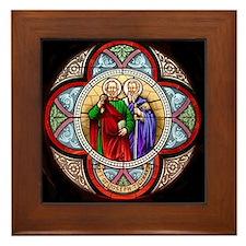 Peter and Paul window Framed Tile