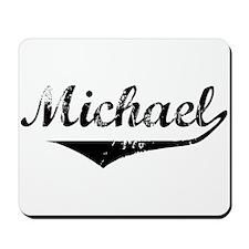 Michael Vintage (Black) Mousepad