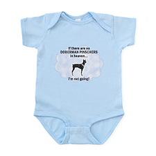 Doberman Pinschers In Heaven Infant Bodysuit