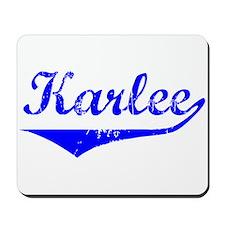 Karlee Vintage (Blue) Mousepad