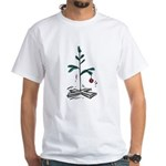 Blockhead Christmas Tree White T-Shirt