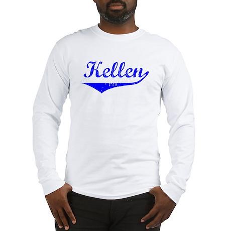 Kellen Vintage (Blue) Long Sleeve T-Shirt