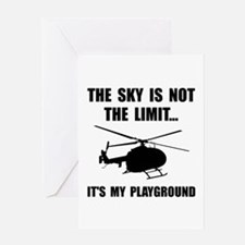 Sky Playground Helicopter Greeting Cards