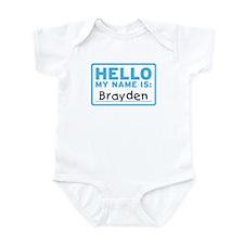 Hello My Name Is: Brayden - Infant Bodysuit