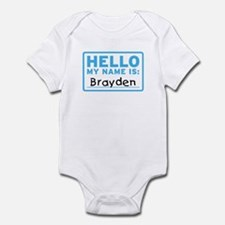 Hello My Name Is: Brayden - Infant Bodysuit