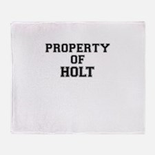 Property of HOLT Throw Blanket