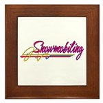Snowmobiling Framed Tile