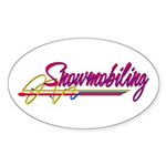 Snowmobiling Oval Sticker