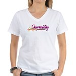 Snowmobiling Women's V-Neck T-Shirt