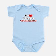 My Heart Belongs to Orcas Island Washing Body Suit