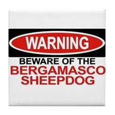 BERGAMASCO SHEEPDOG Tile Coaster