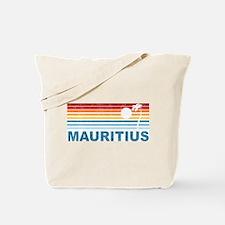 Retro Mauritius Palm Tree Tote Bag