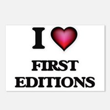 I love FIRST EDITIONS Postcards (Package of 8)