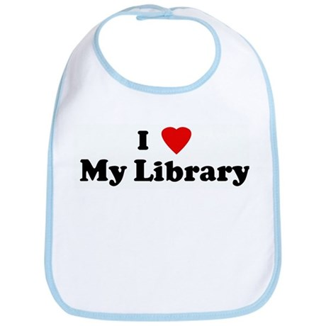 I Love My Library Bib