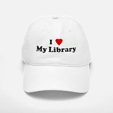 I Love My Library Baseball Baseball Cap