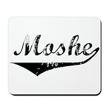 Moshe Vintage (Black) Mousepad
