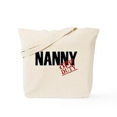 Off Duty Nanny Tote Bag