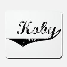 Koby Vintage (Black) Mousepad