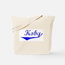 Koby Vintage (Blue) Tote Bag