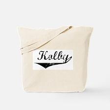 Kolby Vintage (Black) Tote Bag