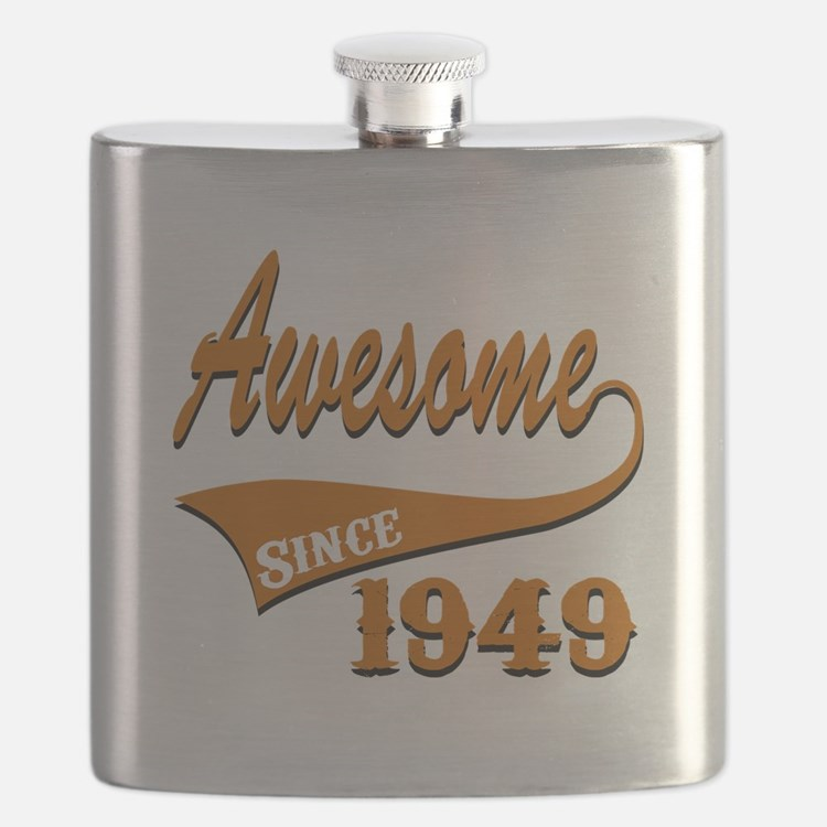 Awesome Since 1949 Birthday Designs Flask