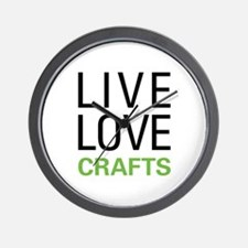 Live Love Crafts Wall Clock