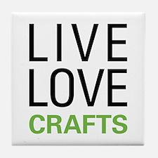 Live Love Crafts Tile Coaster