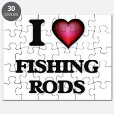 I love Fishing Rods Puzzle