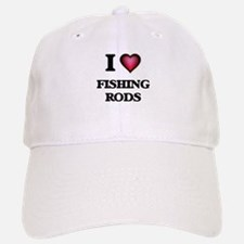 I love Fishing Rods Baseball Baseball Cap
