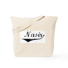 Nasir Vintage (Black) Tote Bag