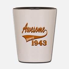 Awesome Since 1940 Birthday Designs Shot Glass